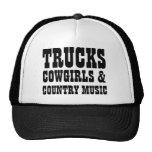 Vaqueras y música country de los camiones gorro de camionero