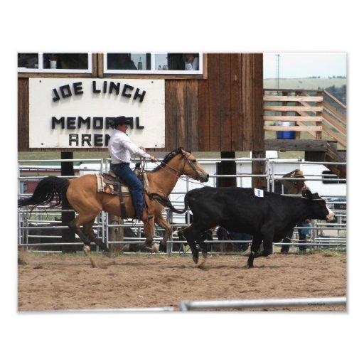 Vaquero 11x14 de Ropin del rodeo Impresiones Fotograficas