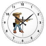 Vaquero 7 reloj de pared