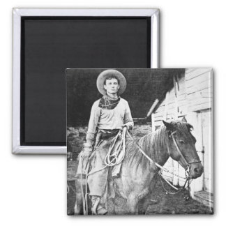 Vaquero americano en Kansas, c.1880 (foto de b/w) Imanes
