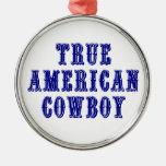 Vaquero americano verdadero ornamente de reyes