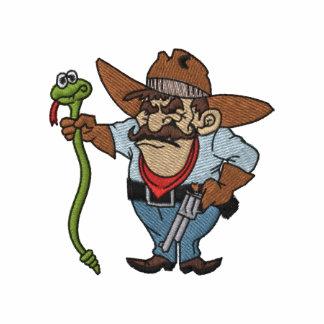 Vaquero bordado del asesino de la serpiente sudadera bordada con capucha