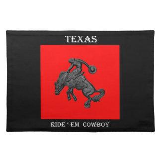 Vaquero Bucking .jpg del caballo de Tejas Mantel Individual
