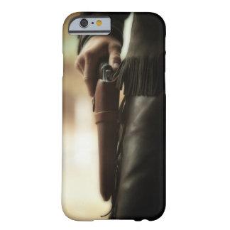 Vaquero con el arma en pistolera funda de iPhone 6 barely there