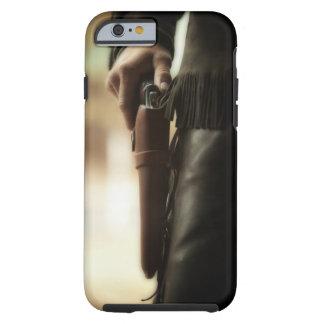 Vaquero con el arma en pistolera funda de iPhone 6 tough