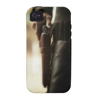 Vaquero con el arma en pistolera Case-Mate iPhone 4 fundas