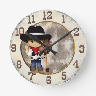Vaquero con el reloj del caballo de palillo
