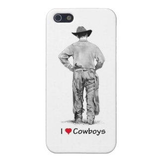 Vaquero con las grietas: Amo a vaqueros: Lápiz iPhone 5 Fundas