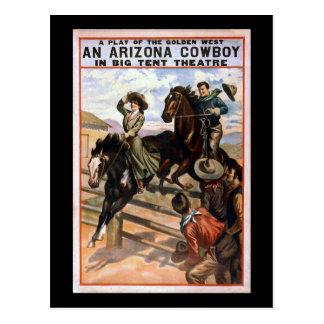 Vaquero de Arizona en teatro grande de la tienda Postal