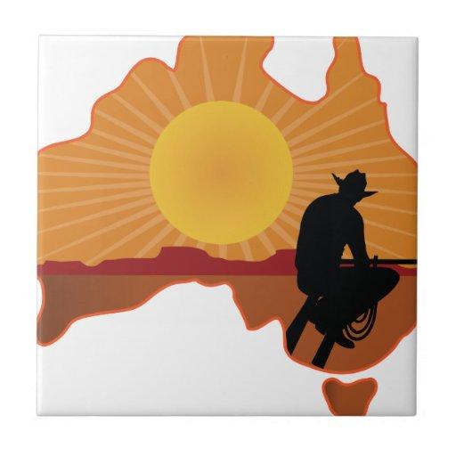 Vaquero de Australia Azulejos Cerámicos