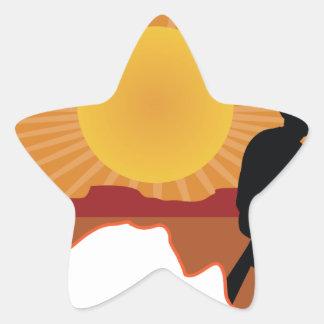 Vaquero de Australia Calcomanía Forma De Estrella Personalizada