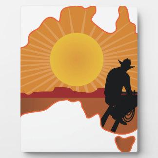 Vaquero de Australia Placa Para Mostrar