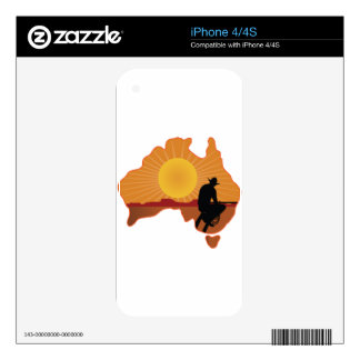 Vaquero de Australia Skins Para iPhone 4