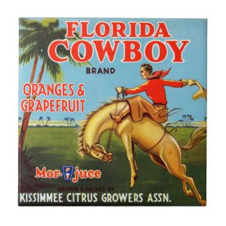 Vaquero de Floriday Azulejo Cuadrado Pequeño