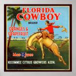Vaquero de Floriday Posters