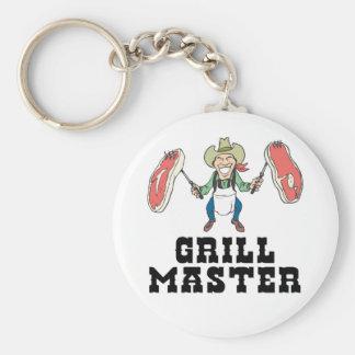 Vaquero de Grill Master Llavero Redondo Tipo Pin