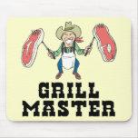 Vaquero de Grill Master Tapetes De Ratón
