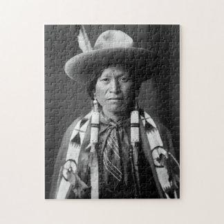 Vaquero de Jicarilla Apache - Edward S. Curtis 190 Rompecabeza