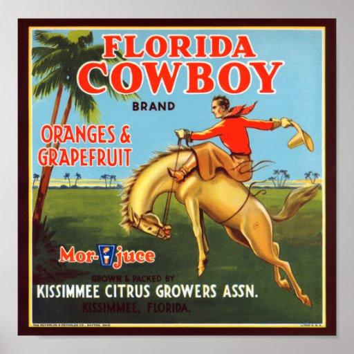 Vaquero de la Florida Posters