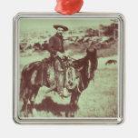 Vaquero de Montana, c.1880 (foto de b/w) Adorno
