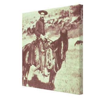 Vaquero de Montana, c.1880 (foto de b/w) Impresiones En Lona Estiradas