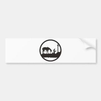 vaquero de rogación etiqueta de parachoque