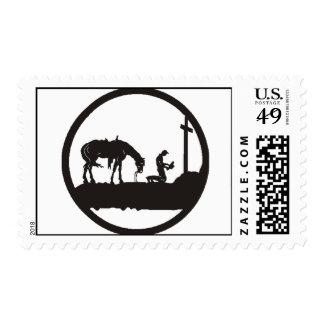 vaquero de rogación timbre postal