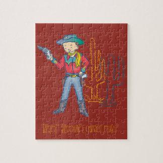 Vaquero de Shootin agudo' oxidado Puzzles