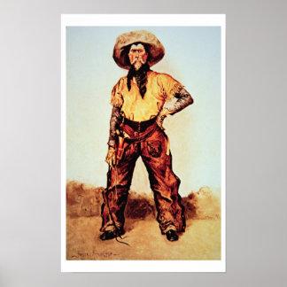 Vaquero de Tejas, c.1890 (aceite en lona) Posters