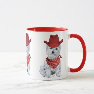 Vaquero de Westie en rojo
