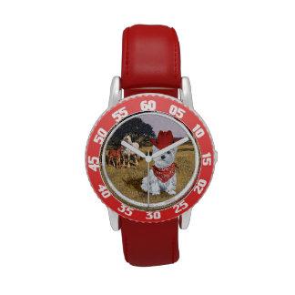 Vaquero de Westie Reloj