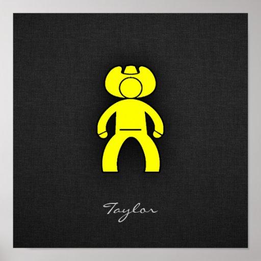 Vaquero del amarillo amarillo poster