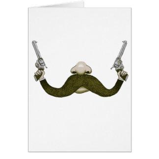 Vaquero del bigote tarjeta de felicitación