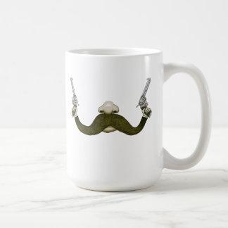 Vaquero del bigote taza