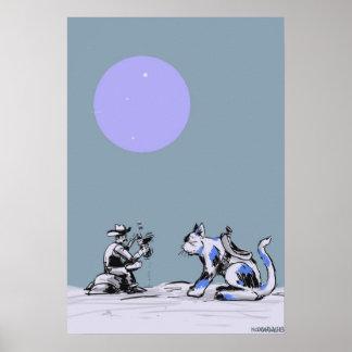 Vaquero del gatito póster