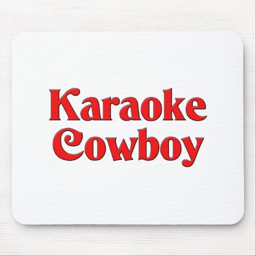 Vaquero del Karaoke Alfombrillas De Raton