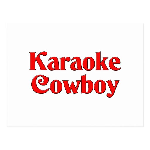 Vaquero del Karaoke Tarjetas Postales