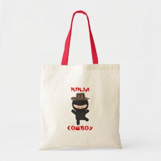 vaquero del ninja con el gorra bolsa tela barata