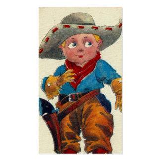 Vaquero del niño del vintage tarjetas de visita