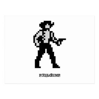 Vaquero del pixel postales