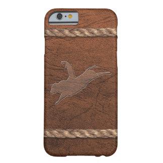Vaquero del rodeo - cuero y cuerda del jinete de funda barely there iPhone 6