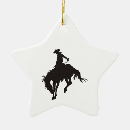 Vaquero del rodeo ornamentos para reyes magos