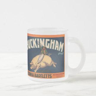 Vaquero del rodeo del arte de la etiqueta del taza