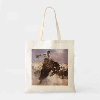 Vaquero del rodeo del vintage, montar a caballo