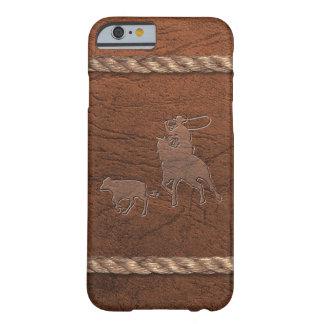 Vaquero del rodeo - el Roping, cuero y cuerda del Funda Para iPhone 6 Barely There