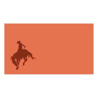 Vaquero del rodeo en tierra de Siena Tarjetas De Visita