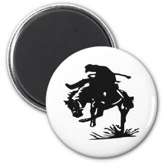 Vaquero del rodeo imán redondo 5 cm