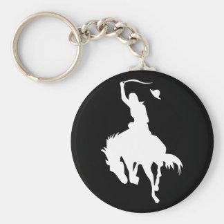 Vaquero del rodeo llavero redondo tipo pin