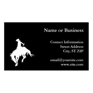 Vaquero del rodeo tarjetas de visita