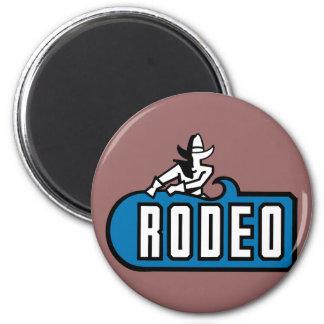 Vaquero del rodeo - viejo oeste imán redondo 5 cm